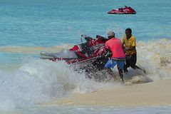Aquatic sports -jet skiing Royalty Free Stock Photography