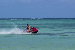 Aquatic sports -jet skiing Royalty Free Stock Image
