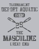 Aquatic Tournament Design Stock Image