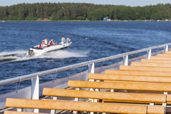 Aquatic, water sports and recreation at the lake. Royalty Free Stock Images