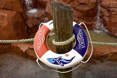 Aquatica gonfiabile al parco dell'acqua nell'area internazionale dell'azionamento fotografia stock libera da diritti