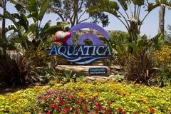 Aquatica Waterpark Amusement in the Desert. Aquatica's Huge waterpark amusement center in the hot dry desert of the United States Stock Photo