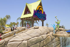 Aquatica Waterpark Amusement in the Desert. Aquatica's Huge waterpark amusement center in the hot dry desert of the United States Royalty Free Stock Photos