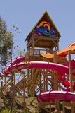 Aquatica Waterpark Amusement in the Desert. Aquatica's Huge waterpark amusement center in the hot dry desert of the United States Royalty Free Stock Image