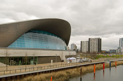 Aquatics Centre and Carpenters Estate, Stratford Stock Photo
