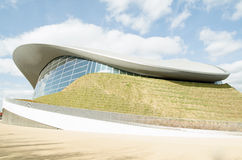 Aquatics-Mitte, Olympiapark, London Lizenzfreie Stockbilder
