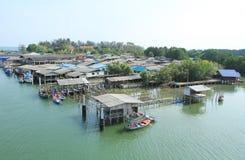 Aquatisch dorp stock afbeelding