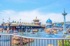CHIBA, JAPAN: Aquatopia attraction in Port Discovery area in Tokyo Disneysea located in Urayasu, Chiba, Japan. Aquatopia attraction in Port Discovery area in royalty free stock photo