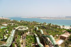 Aquaventure waterpark of Atlantis the Palm hotel Stock Photos