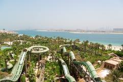 Aquaventure waterpark of Atlantis the Palm hotel Stock Photos