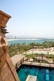Aquaventure waterpark of Atlantis the Palm hotel. Dubai, UAE Royalty Free Stock Images