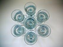 Aquavit glasses Stock Photography