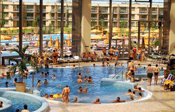 AquaWorld, inside pool. Aquaworld- Ramada Resort, Hungary Stock Photo