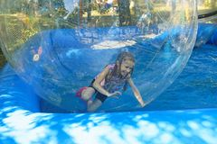 Aquazorbing - ευκινησία και διασκέδαση Speed Στοκ Εικόνες
