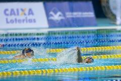 Aquece里约-游泳开放冠军Paralimpica 库存图片