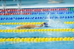 Aquece里约-游泳开放冠军Paralimpica 免版税图库摄影
