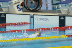 Aquece Ρίο - ανοικτό πρωτάθλημα Paralimpica κολύμβησης Στοκ φωτογραφίες με δικαίωμα ελεύθερης χρήσης