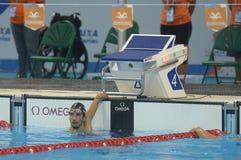 Aquece Rio de Janeiro - öppen mästerskap Paralimpica för simning Arkivfoto