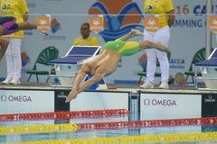 Aquece Rio de Janeiro - öppen mästerskap Paralimpica för simning Royaltyfri Foto