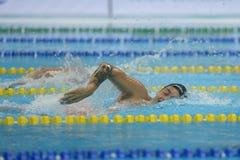 Aquece Rio de Janeiro - öppen mästerskap Paralimpica för simning Arkivfoton
