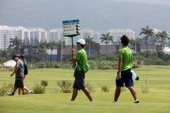 Aquece Rio Golf Challenge - evento de la prueba de Río 2016 Foto de archivo libre de regalías