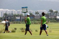 Aquece Rio golfa wyzwanie - Rio 2016 Próbny wydarzenie zdjęcie royalty free