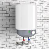 Aquecedor de água automático moderno rendição 3d ilustração royalty free