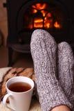 Aquecimento do inverno Fotografia de Stock
