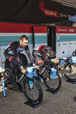Aquecimento dos ciclistas Imagens de Stock Royalty Free