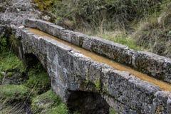 Aquedotto antico di Cumbe Mayo nel Perù Fotografie Stock Libere da Diritti
