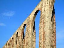 Aquedotto di Los Arcos del Queretaro fotografia stock libera da diritti
