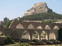 Aquedotto - Morella, Spagna Fotografie Stock Libere da Diritti