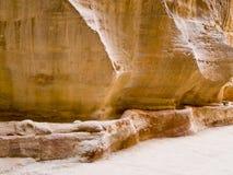Aquedotto nel PETRA, Giordano di Nabatean Fotografie Stock