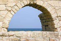 Aquedotto romano antico Fotografia Stock Libera da Diritti
