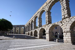 Aquedotto romano a Segovia fotografia stock