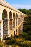 Aquedotto romano a Tarragona Immagine Stock