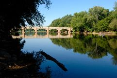 Aquedotto scenico in Maryland, S.U.A. Fotografia Stock Libera da Diritti