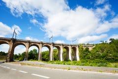 Aquedotto vicino al comune di Labastide Marnhac, Francia del sud immagine stock libera da diritti