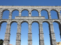 Aqueduc à Ségovie, Espagne Photos libres de droits