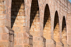 Aqueduc antique de Morelia, Mexique Image libre de droits