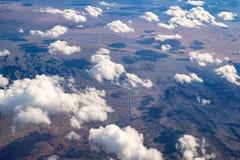 Aqueduc central de projet de l'Arizona dans la vue aérienne de désert image stock