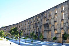 Aqueduc d'Amoreira d'Elvas, Portugal Image stock