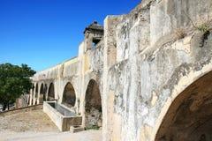 Aqueduc d'Amoreira dans Elvas, Portugal Photographie stock