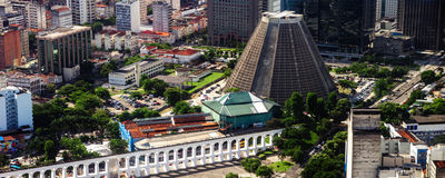 Aqueduc dans le Rio de Janeiro Images stock