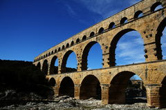 Aqueduc de Pont du le Gard Photos stock