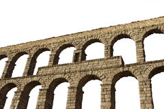 Aqueduc de Segovia d'isolement Photographie stock