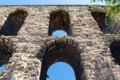 Aqueduc de Valens à Istanbul, Turquie Photo stock