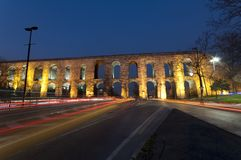 Aqueduc de Valens (Bozdogan Kemeri) à Istanbul, Tur Images libres de droits