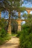 Aqueduc romain à Tarragona, Espagne Photographie stock libre de droits