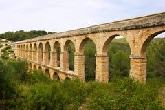 Aqueduc romain à Tarragona, Espagne Image libre de droits